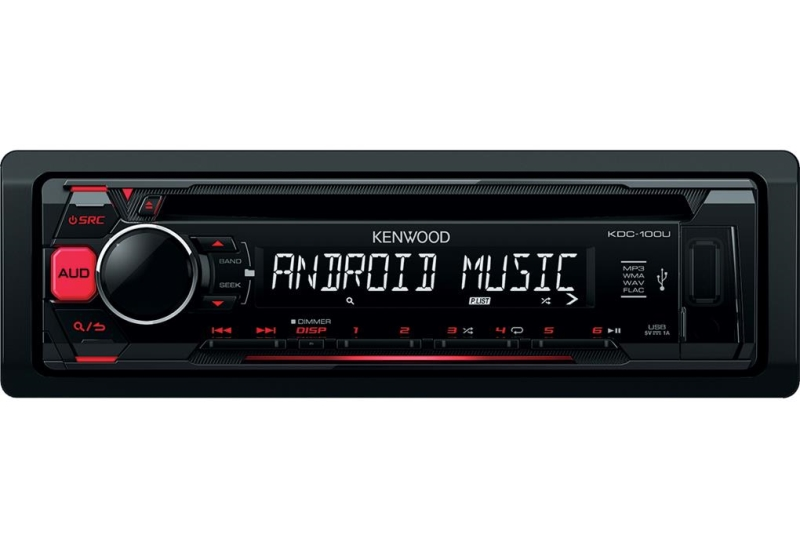 KENWOOD SINTO CD 50W X 4 INGR.AUX/USB ROSSO DISPLAY ROSSO
