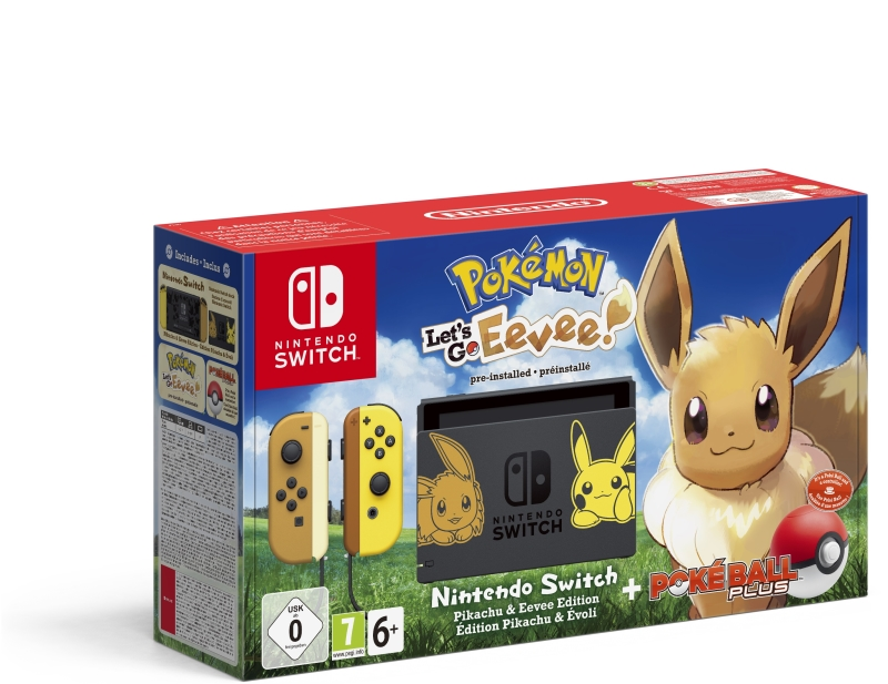 NINTENDO CONSOLE NINTENDO SWITCH POKEMON LET'S GO EEVEE + POKEBALL PLUS
