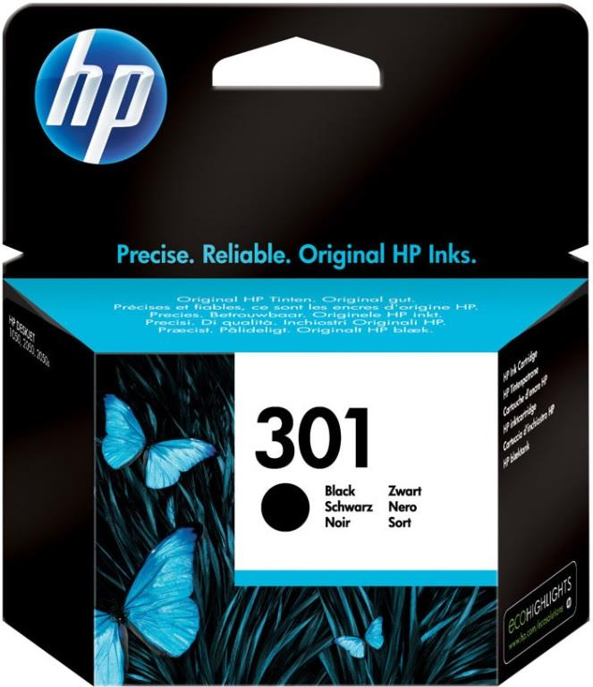 HP CARTUCCIA ORIGINALE HP INK 301 NERO BLISTER
