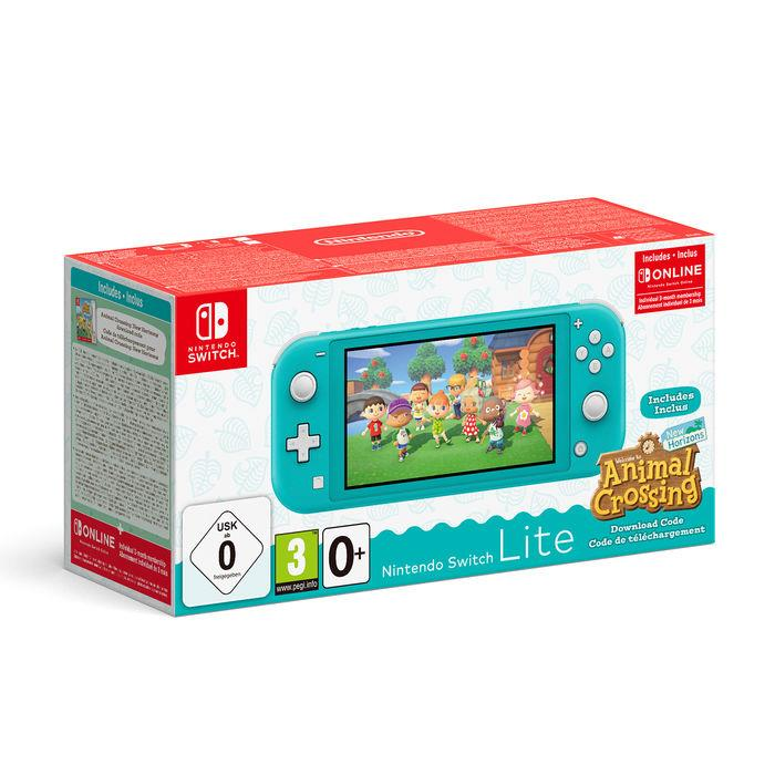 NINTENDO CONSOLE NINTENDO SWITCH LITE TURQUOISE + ANIMAL CROSSING