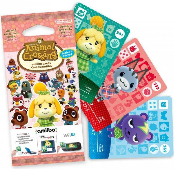 NINTENDO AMIIBO NINTENDO CARD MPCS ANIMAL CROSSING SERIE 4