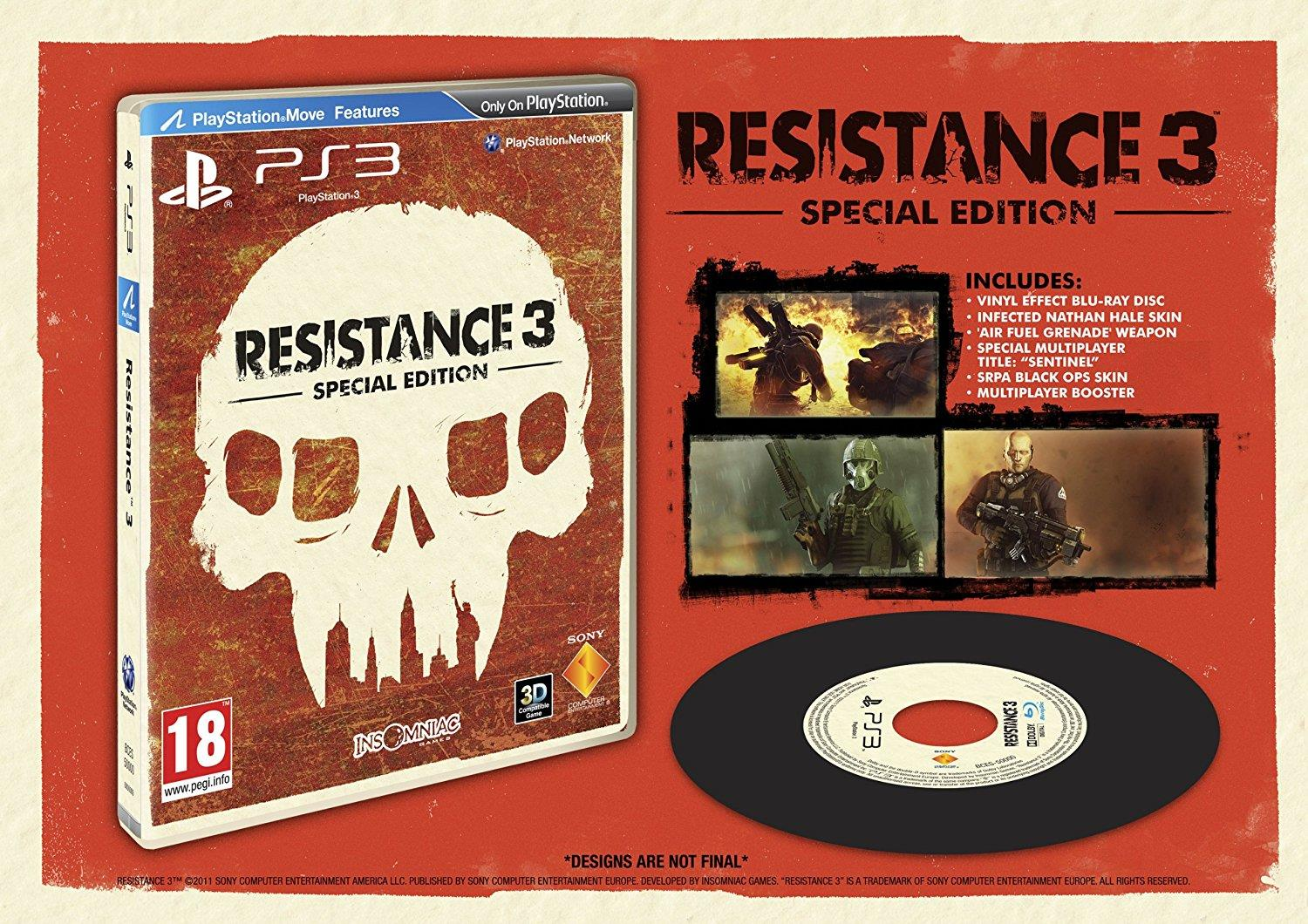 TX GAME PS3 RESISTANCE3 SPECIAL EDITION
