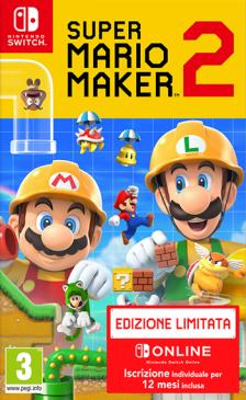 NINTENDO GAME NINTENDO SWITCH SUPER MARIO MAKER 2 + NINTENDO SWITCH ONLINE