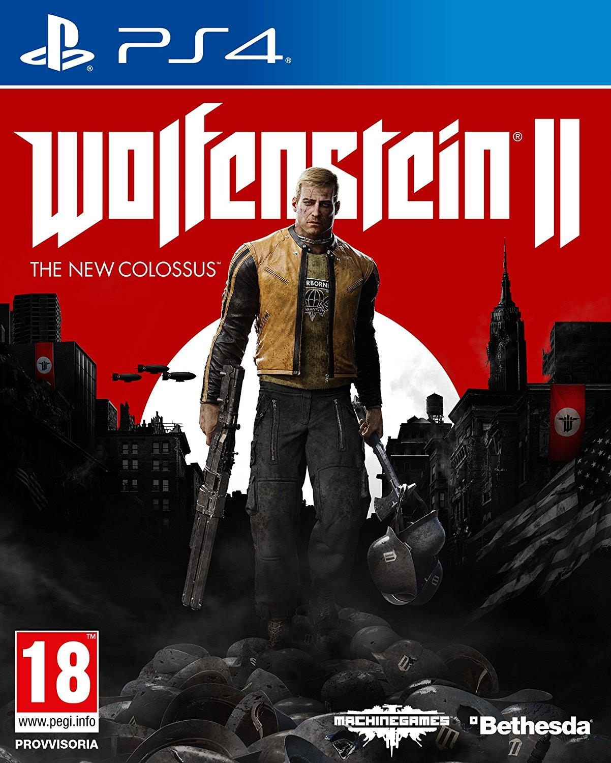UBISOFT GAME WOLFENSTEIN II THENEW COLOSSUS IT PS4