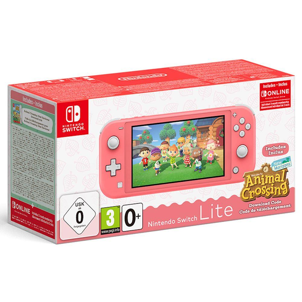 NINTENDO CONSOLE NINTENDO SWITCH LITE + ANIMAL CROSSING CORAL