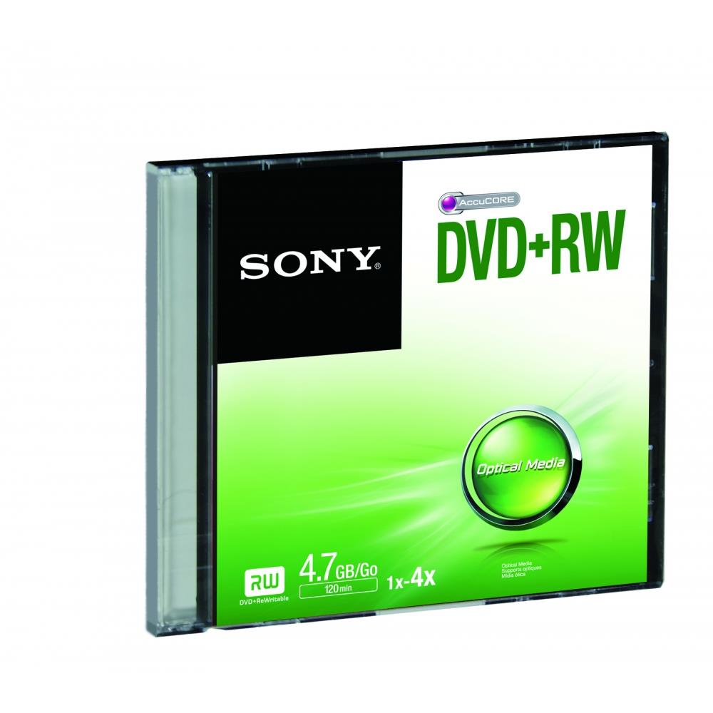 SONY DVD +RW SONY 4X 4 7GB SLIM CASE (120MIN)