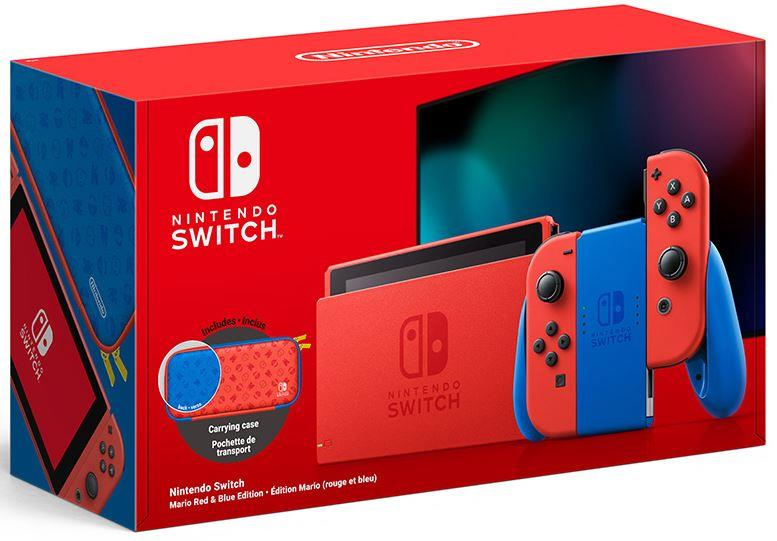 NINTENDO CONSOLE NINTENDO SWITCH MARIO EDITION RED AND BLUE