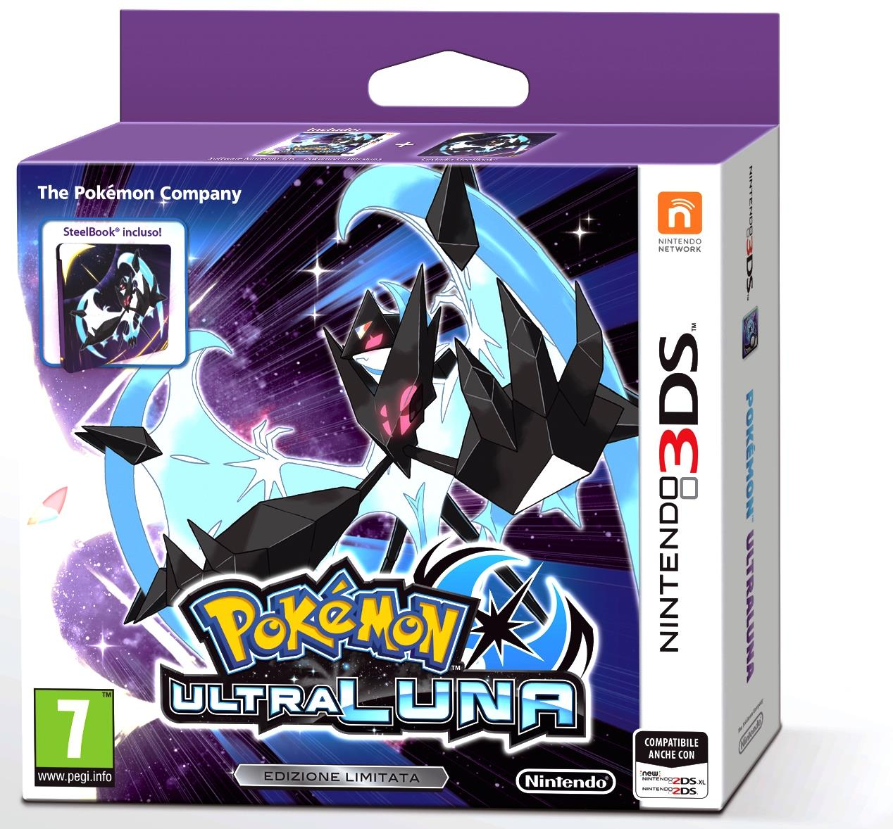 NINTENDO GAME NINTENDO 3DS POKEMON ULTRA LUNA + STEELBOOK LIMITED EDITION