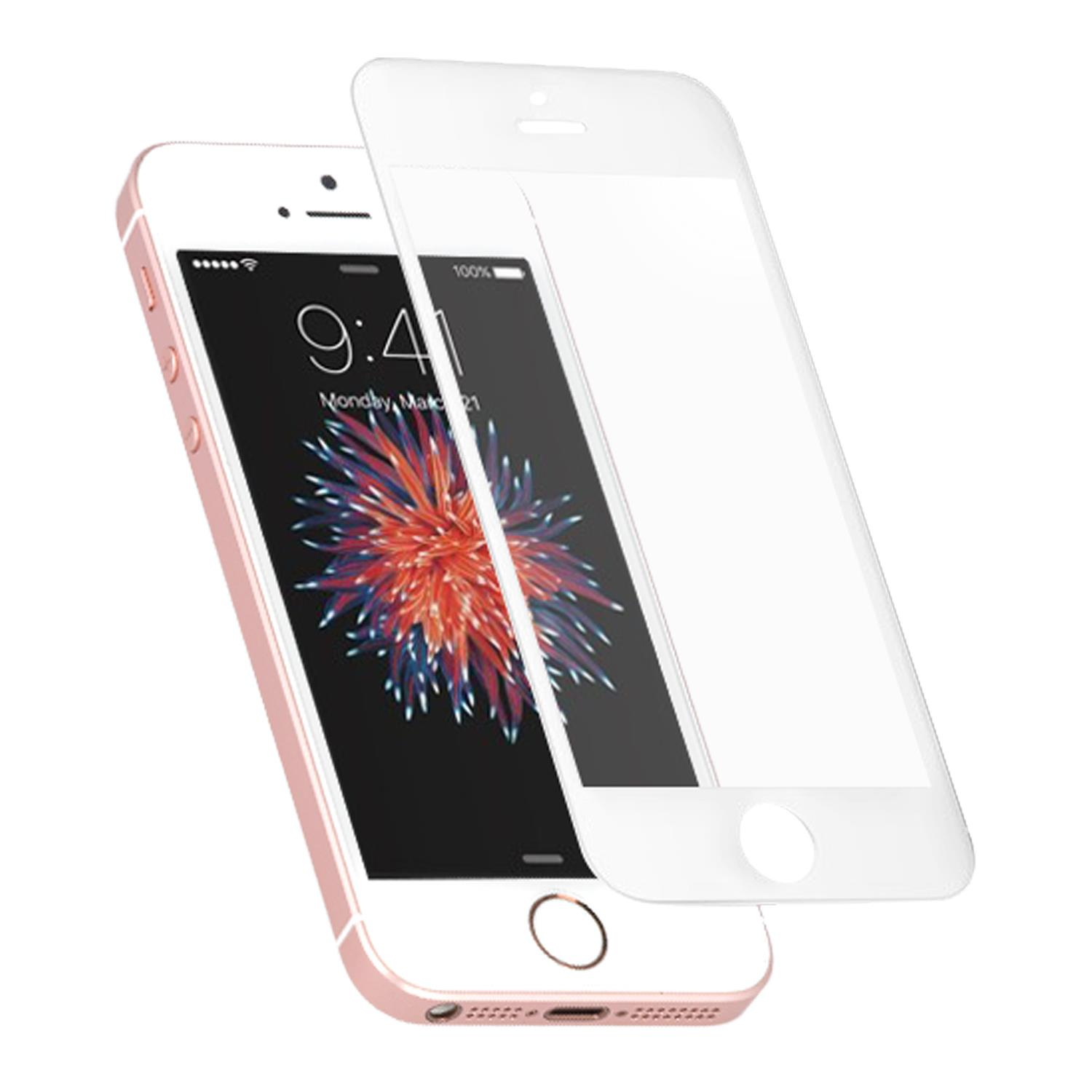 AREA AREA SCREENP.GLASS BIANCO FULL COV.(1PZ) IPHONE SE-5S-5