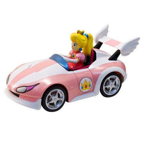 TECNO SHOP FIGURE MARIO KART WII PULL BACK ACTION-WILD WING PEACH 19306