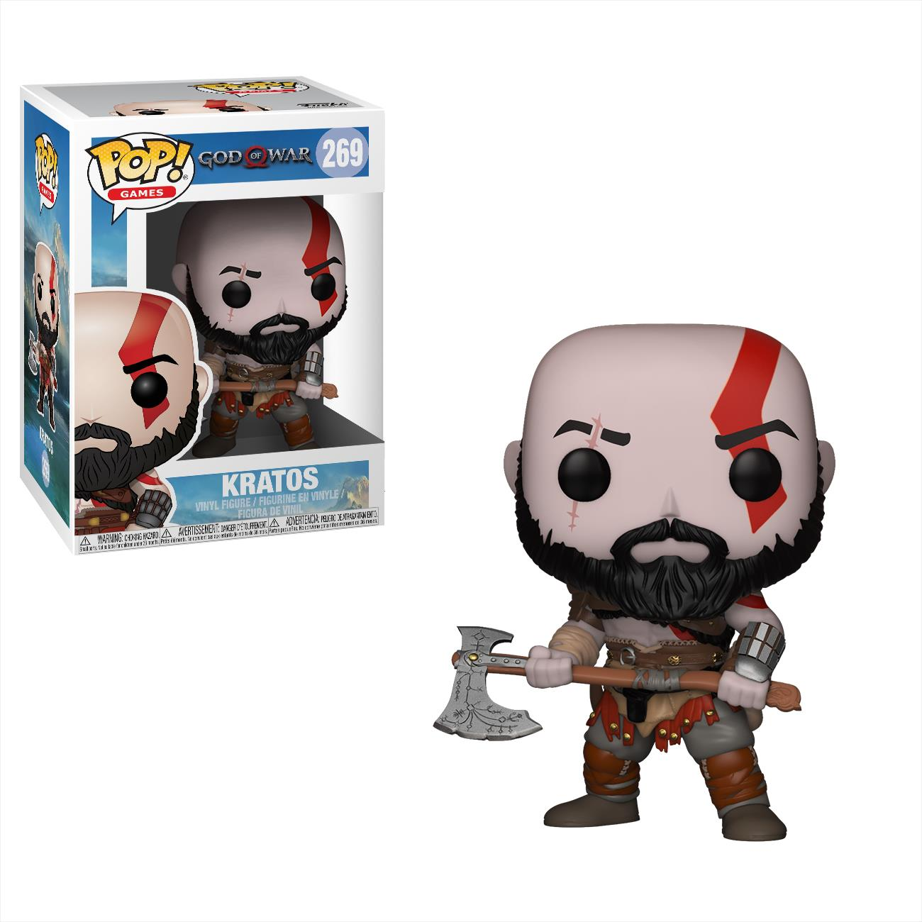 FUNKO ACTION FIGURES FUNKO POP VINYL GOD OF WAR KRATOS CON ASCIA