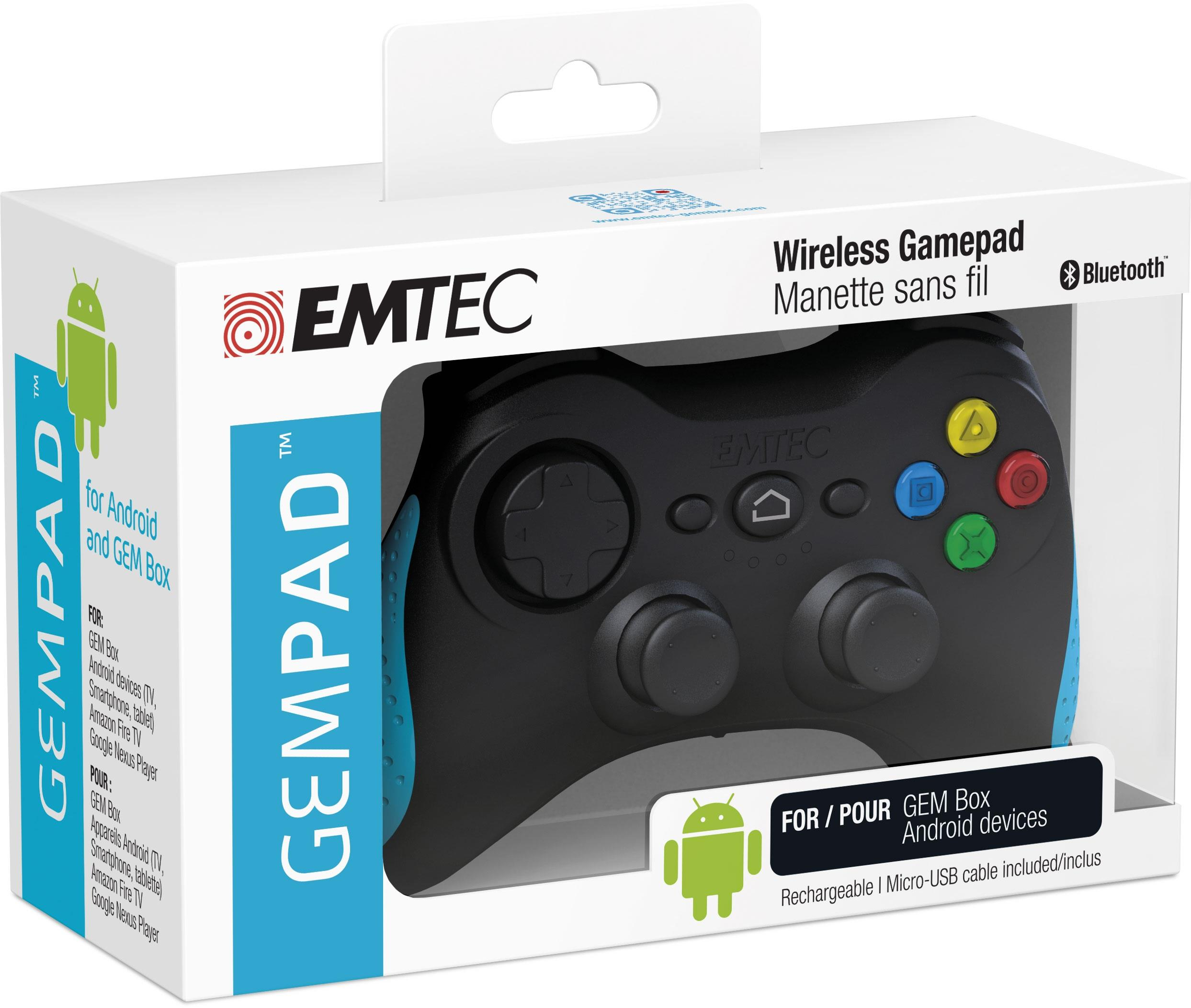 EMTEC GAMEPAD EMTEC WIRELESS PER ANDROID FOR GEM BOX PORTA MICRO USB