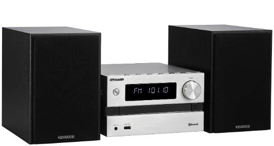 KENWOOD MICRO HI FI KENWOOD CD BLUETOOTH AUX USB 2X50W SILVER
