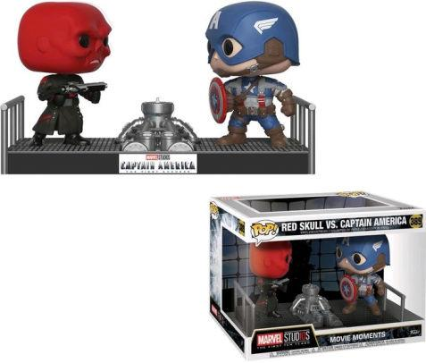 FUNKO ACTION FIGURES FUNKO MOVIE MOMENTS MARVEL CAPTAIN AMERICA E RED
