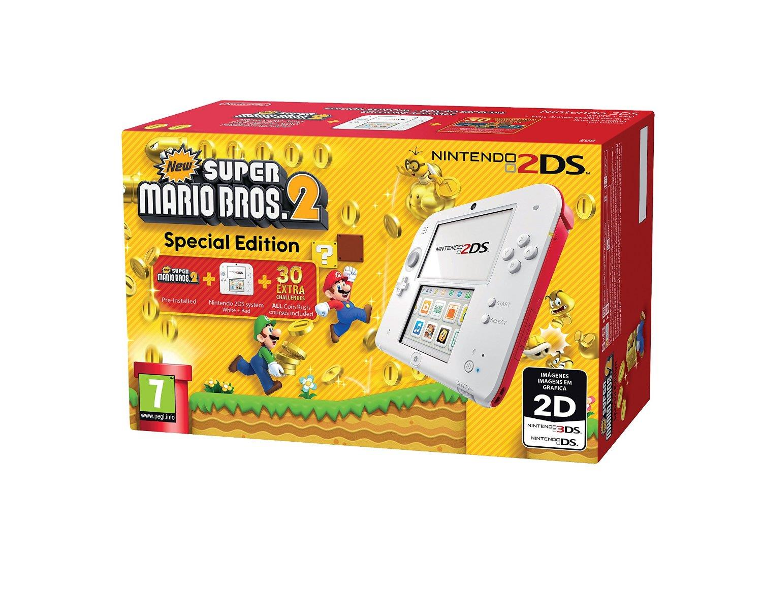 NINTENDO CONSOLE NINTENDO 2DS WHITE+RED+GAME SUPER MARIO BROS.2