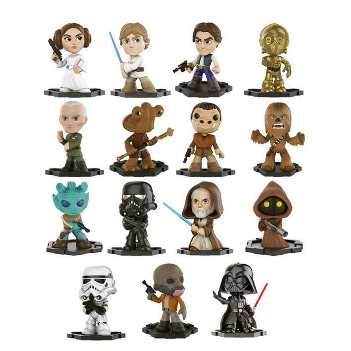 FUNKO ACTION FIGURES FUNKO MYSTERY MINI STAR WARS 12PC PDQ
