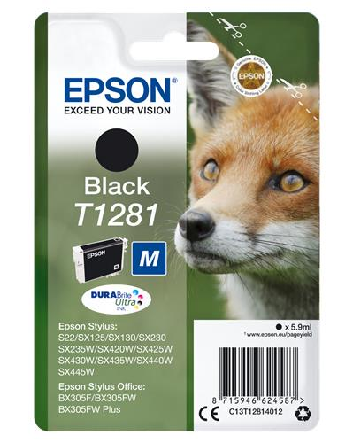 HP EPSON T1281 NERO INK CARTRIDGE
