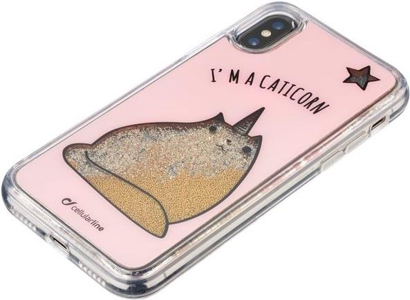CELLULAR LINE CUSTODIA CELLULAR LINE RETRO STARDUST IPHONE X CATICORN