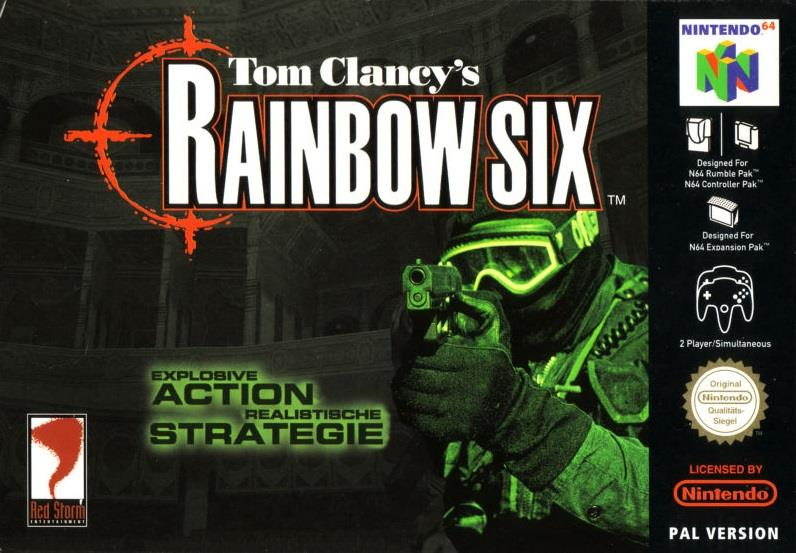 SONY GAME NINTENDO N64 TOM CLANCY'S RAINBOW SIX