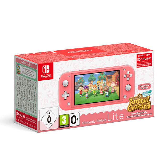 NINTENDO CONSOLE NINTENDO SWITCH LITE CORAL + ANIMAL CROSSING