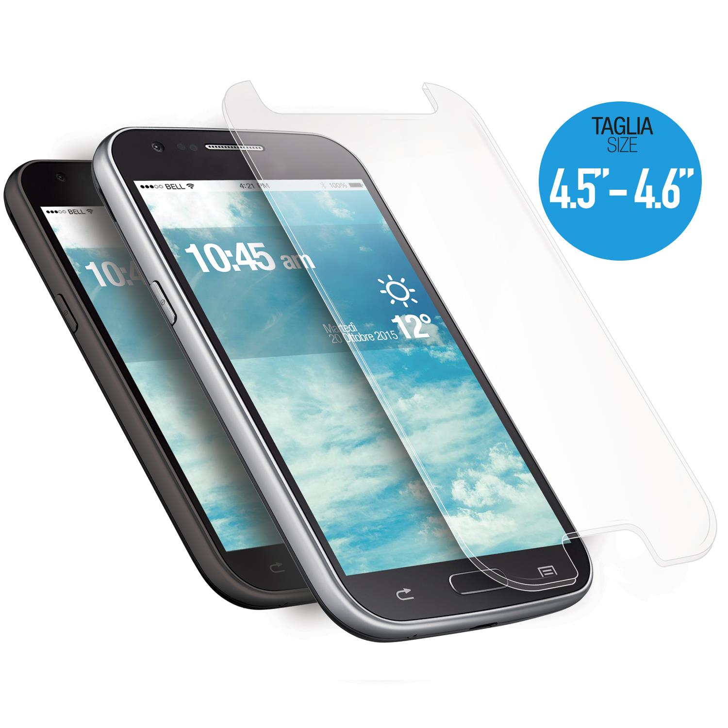 AREA AREA SCREEN PROTECTOR TEMPRED GLASS UNIVERSALE 4.6