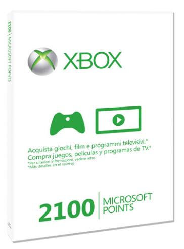 MICROSOFT XBOX 360 LIVE 2100 POINTS CARD