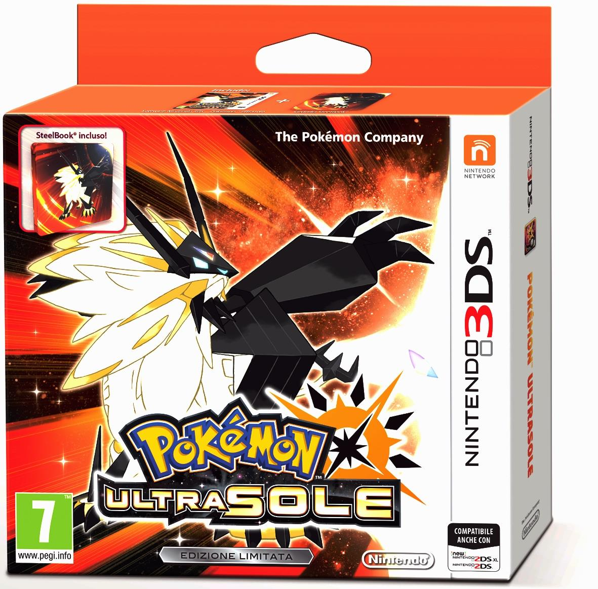 NINTENDO GAME NINTENDO 3DS POKEMON ULTRA SOLE + STEELBOOK LIMITED EDITION
