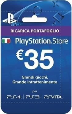 SONY RICARICHE PSN CARD PLAYSTATION PLUS HANG 35