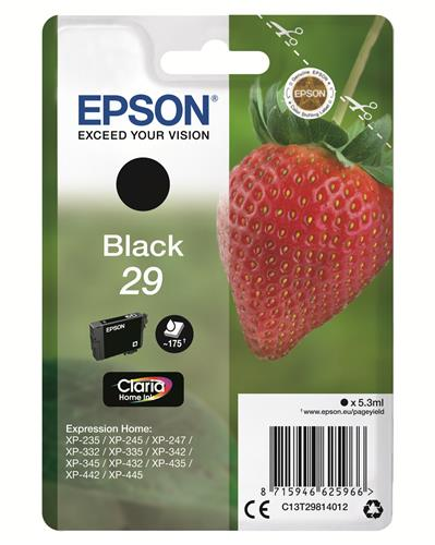 EPSON CARTUCCIA INK EPSON BLACK T29 FRAGOLA