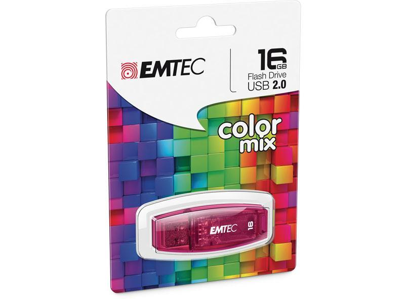 EMTEC PEN DRIVE EMTEC 16GB USB 2,0 COLOR MIX ROSA
