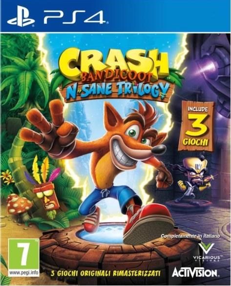 ACTIVISION GAME SONY PS4 CRASH BANDICOOT N.SANE TRILOGY