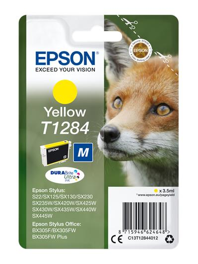 HP EPSON T1284 YELLOW INK CARTRIDGE