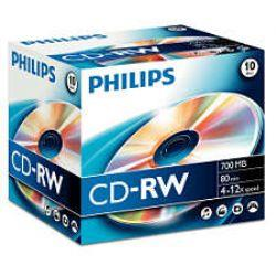 TX CD-RW 700MB 80MIN 4X-12X PHILIPS