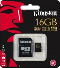 KINGSTON MICRO SD KINGSTON 16GB CLASS U3 4K ULTRA HD
