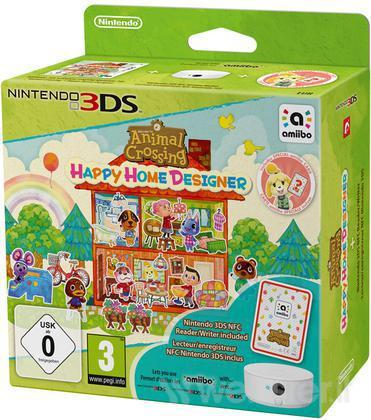 NINTENDO GAME NINTENDO 3DS ANIMAL CROSSING HAPY HOME DESIGNER+LETTORE/SCR
